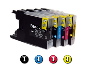 4 Pack Combo Compatible Brother LC73 (1BK/1C/1M/1Y) ink cartridges