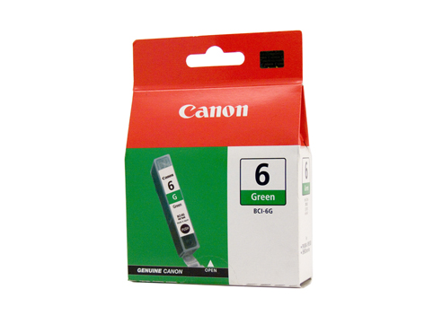 Genuine Canon BCI-6G (Green) ink cartridge