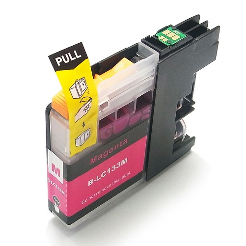 Compatible Brother LC133 Magenta ink cartridge