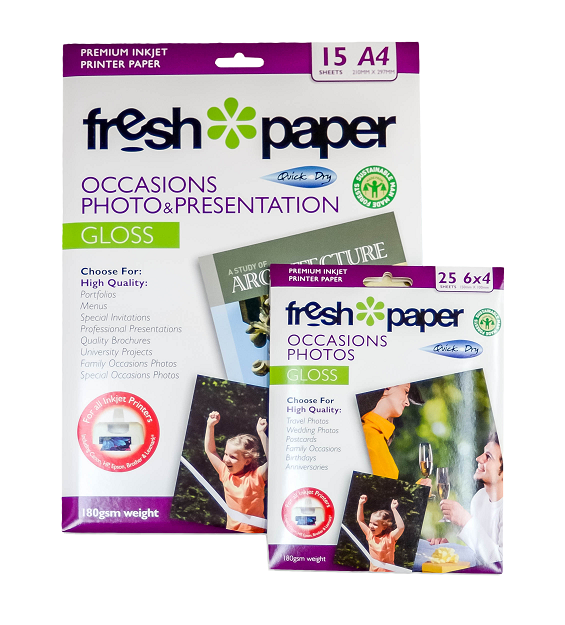 Fresh Photo Paper 180gsm Pack A4+6x4