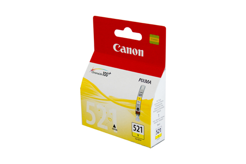 Genuine Canon CLI-521Y (Yellow) ink cartridge