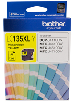 Genuine Brother LC135XLY (Yellow) ink cartridge