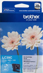 Genuine Brother LC39C (Cyan) ink cartridge