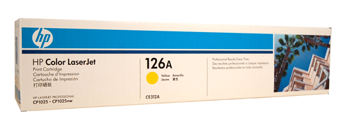 Genuine HP 126A (CE312A) Yellow toner cartridge