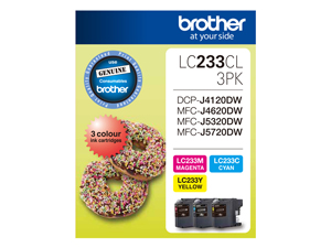 Genuine Brother LC233CL3PK (3 Colour Pack)