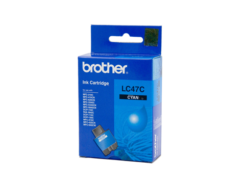 Genuine Brother LC47C (Cyan) ink cartridge