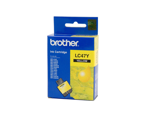 Genuine Brother LC47Y (Yellow) ink cartridge