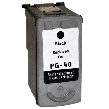 Remanufactured Canon PG40 (Black) ink cartridge