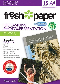 Fresh Photo Paper Occasions Gloss A4 15 Sheets