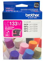 Genuine Brother LC133M (Magenta) ink cartridge