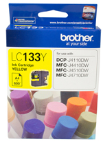 Genuine Brother LC133Y (Yellow) ink cartridge