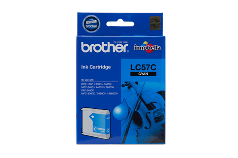 Genuine Brother LC57C (Cyan) ink cartridge