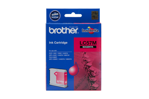 Genuine Brother LC57M (Magenta) ink cartridge