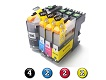 10 Pack Combo Compatible Brother LC231XL/LC233 (4BK/2C/2M/2Y) ink cartridges