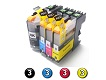 12 Pack Combo Compatible Brother LC231XL/LC233 (3BK/3C/3M/3Y) ink cartridges