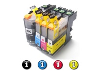 4 Pack Combo Compatible Brother LC231XL/LC233 (1BK/1C/1M/1Y) ink cartridges