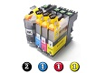 5 Pack Combo Compatible Brother LC231XL/LC233 (2BK/1C/1M/1Y) ink cartridges
