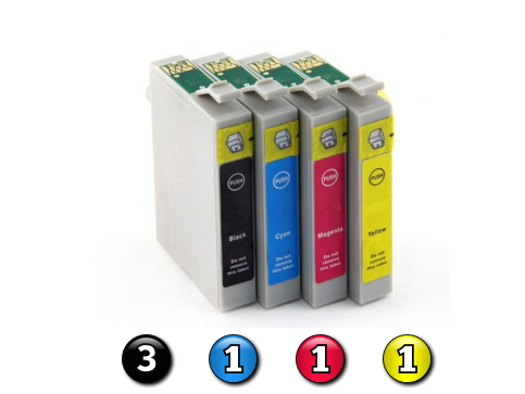 6 Pack Combo Compatible Epson 103 (3BK/1C/1M/1Y) ink cartridges