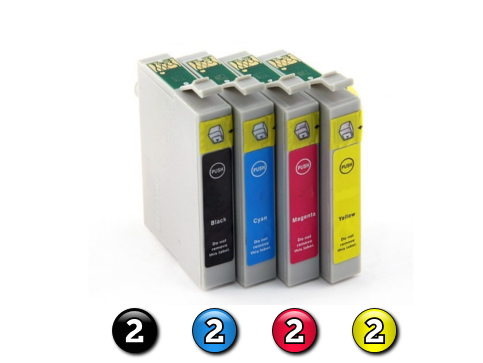 8 Pack Combo Compatible Epson 103 (2BK/2C/2M/2Y) ink cartridges